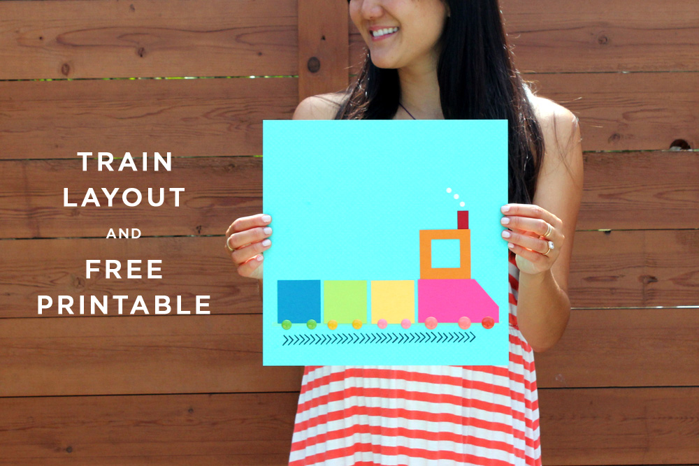 Train Layout + Free Printable | Amy Tangerine