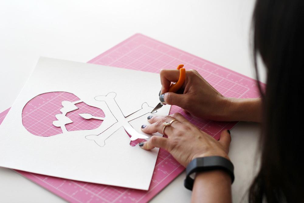 Amy Tangerine DIY Skull Tee