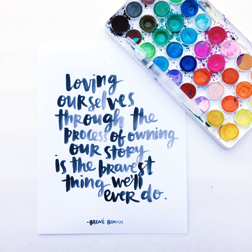 brene brown quote scripted by Amy Tangerine
