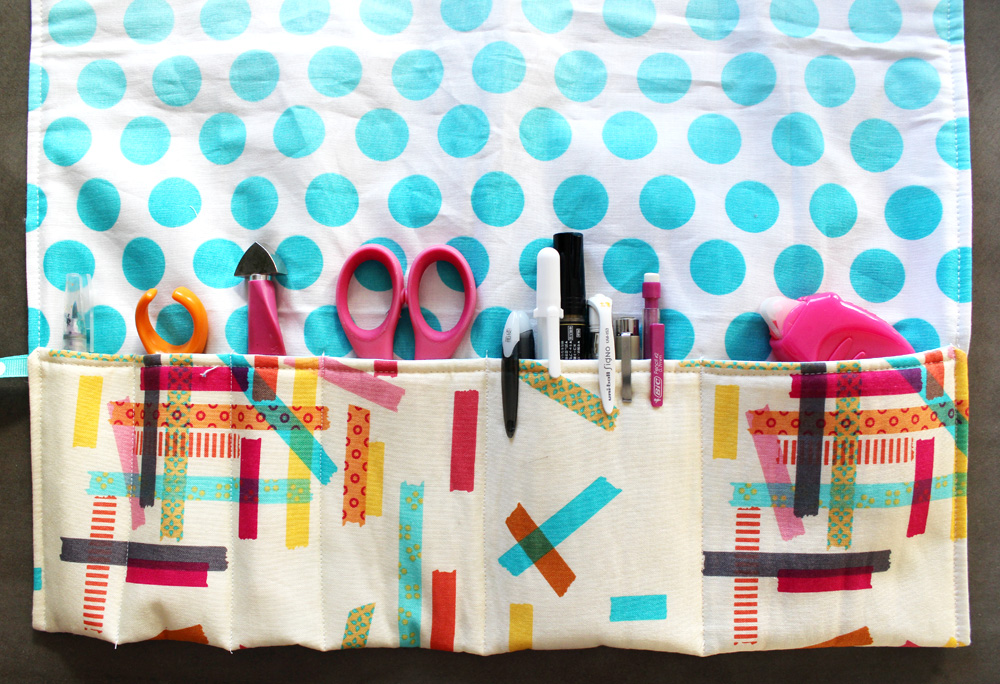 Amy Tangerine tool kit roll up by Melanie Ham
