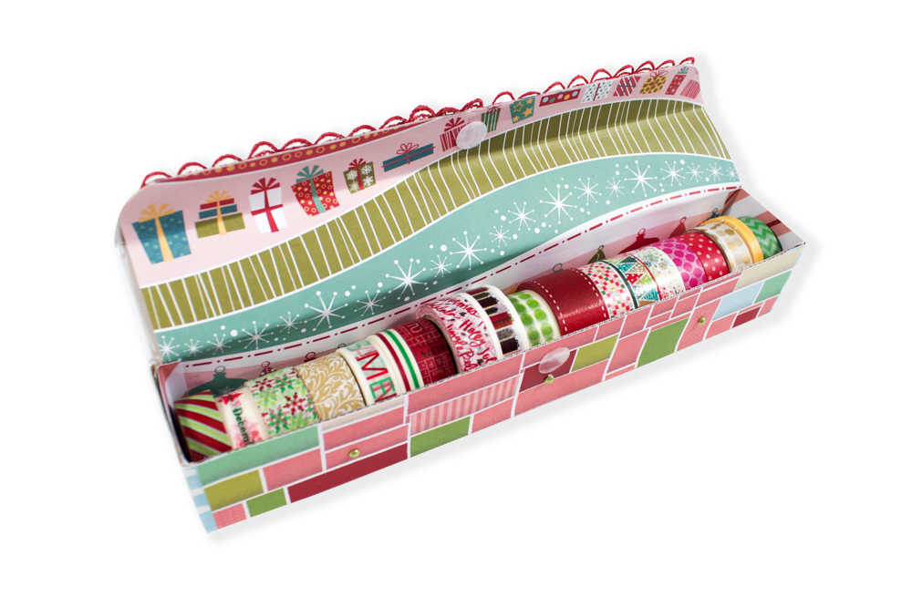 Wax Paper Box Washi Tape Storage | Guest Post by Amelia Woodbridge | Amy Tangerine Blog