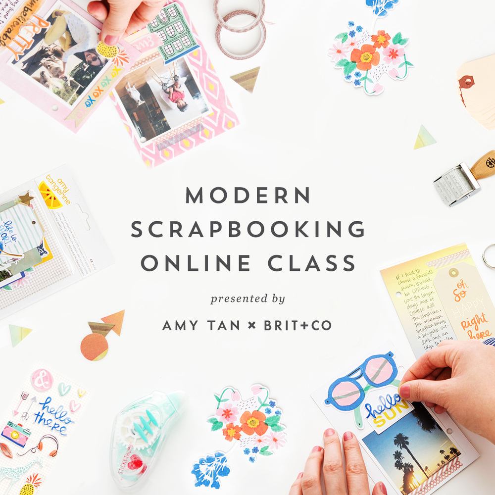 Modern Scrapbooking by Amy Tangerine Brit+Co