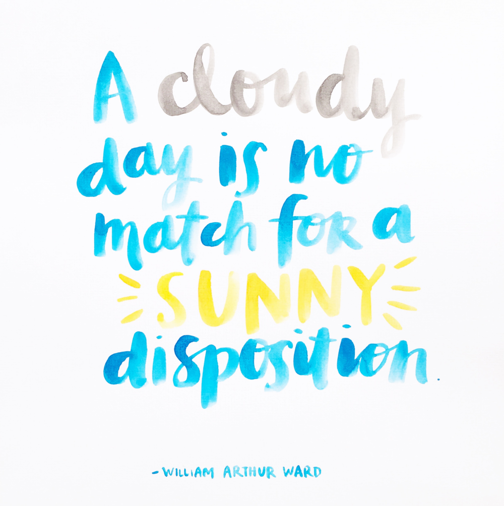A cloudy day quote