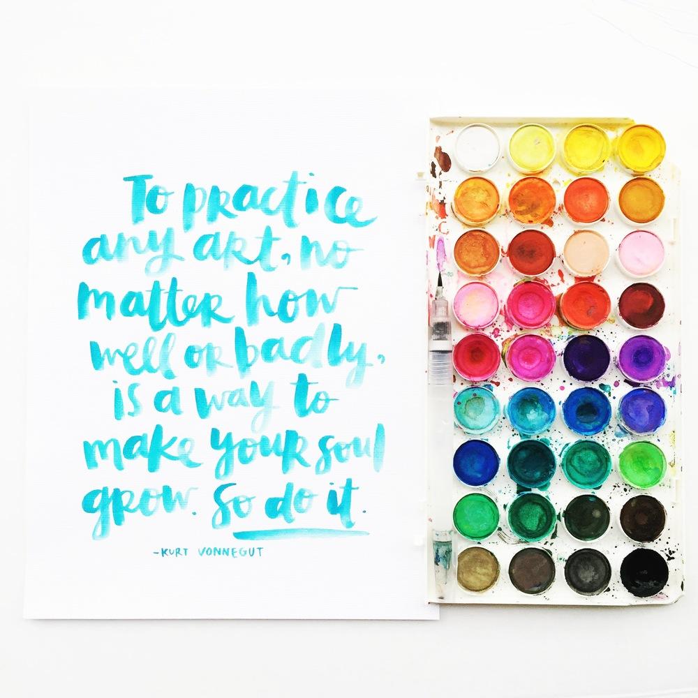Kurt Vonnegut quote scripted by Amy Tangerine