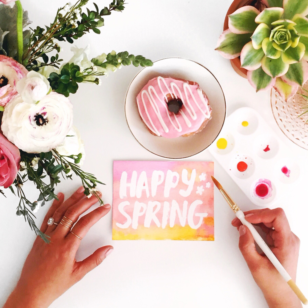 Happy Spring Donut Desk Goals by Amy Tangerine