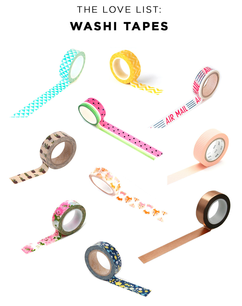 The Love List: Washi Tapes | Amy Tangerine