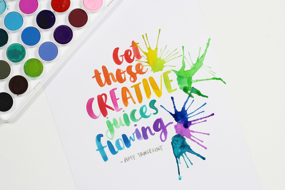 Amy Tangerine's favorite watercolors + free download
