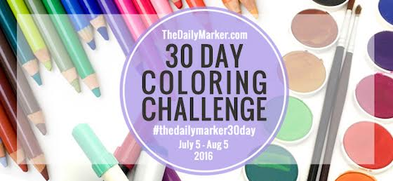 30 day coloring challenge - amy tangerine