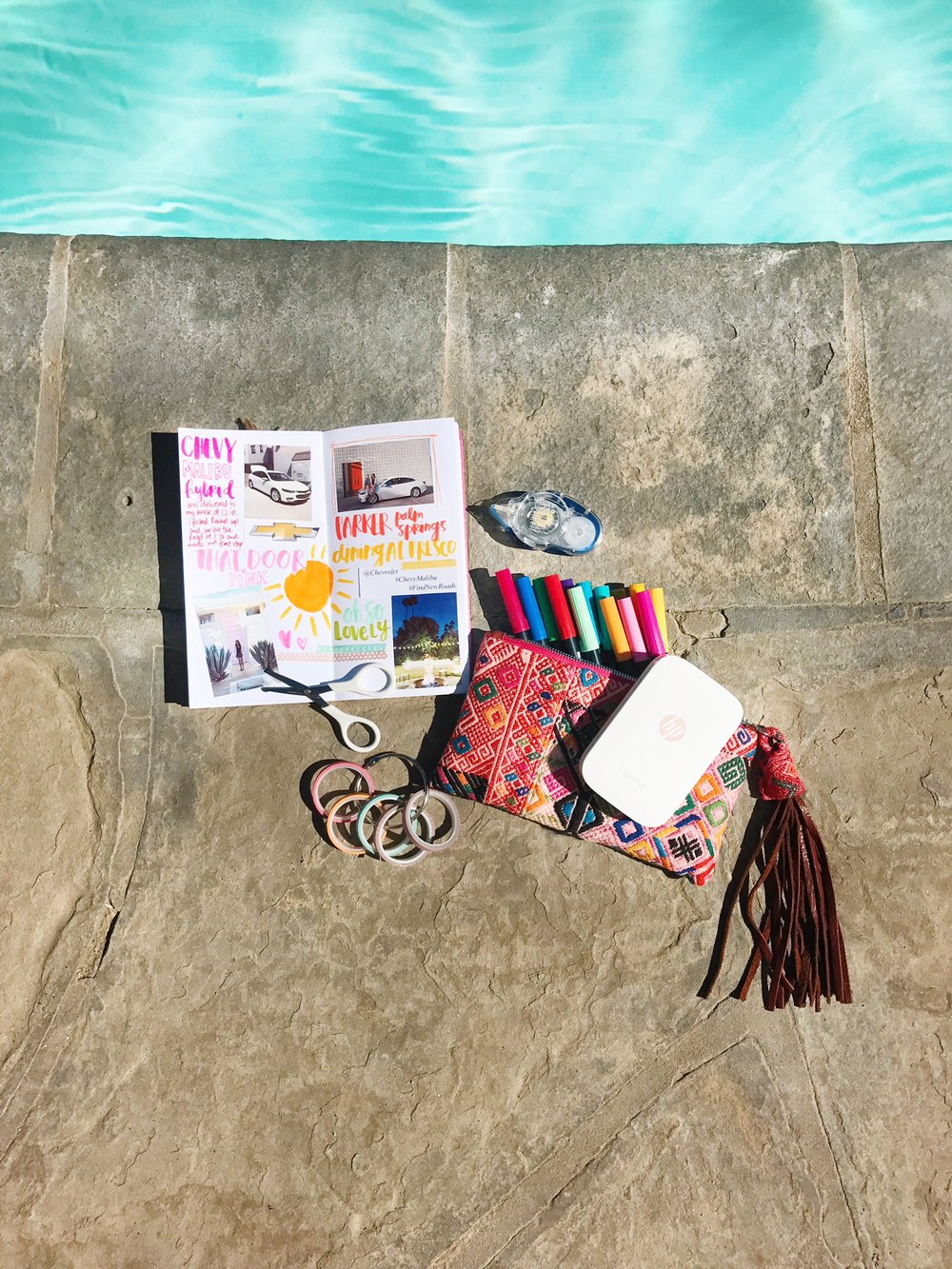 Crafting by the pool