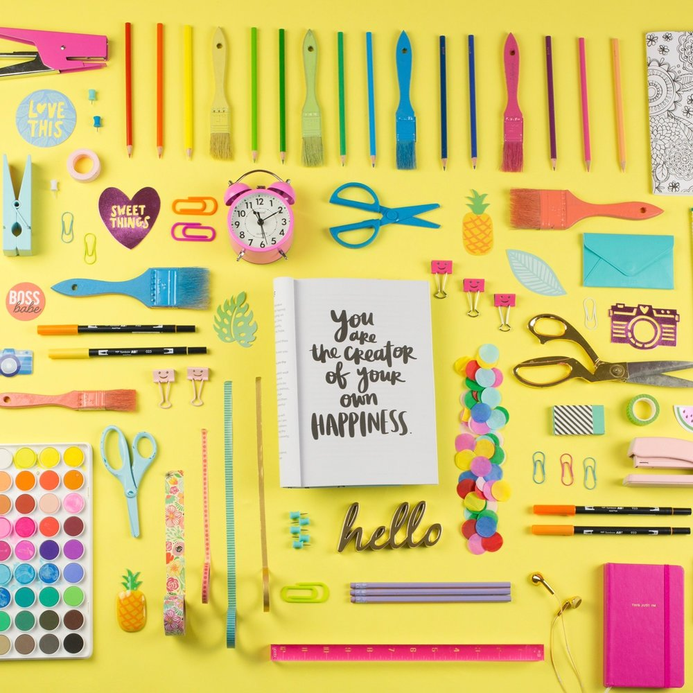 Crafty Flat Lay goals