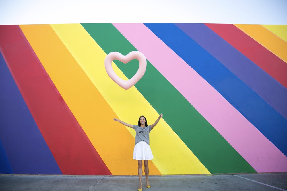 rainbow wall pic by Lish Creative