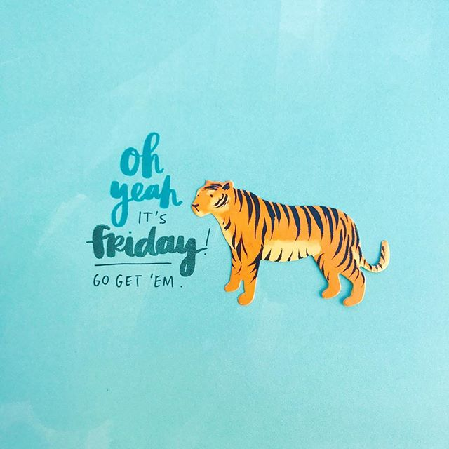 Go get 'em 🐅 . After tons of requests to turn my handwriting into stamps, I did it! You can find them exclusively at @amytangerineshop. The tiger is from #hustleandheart. What's your spirit animal?