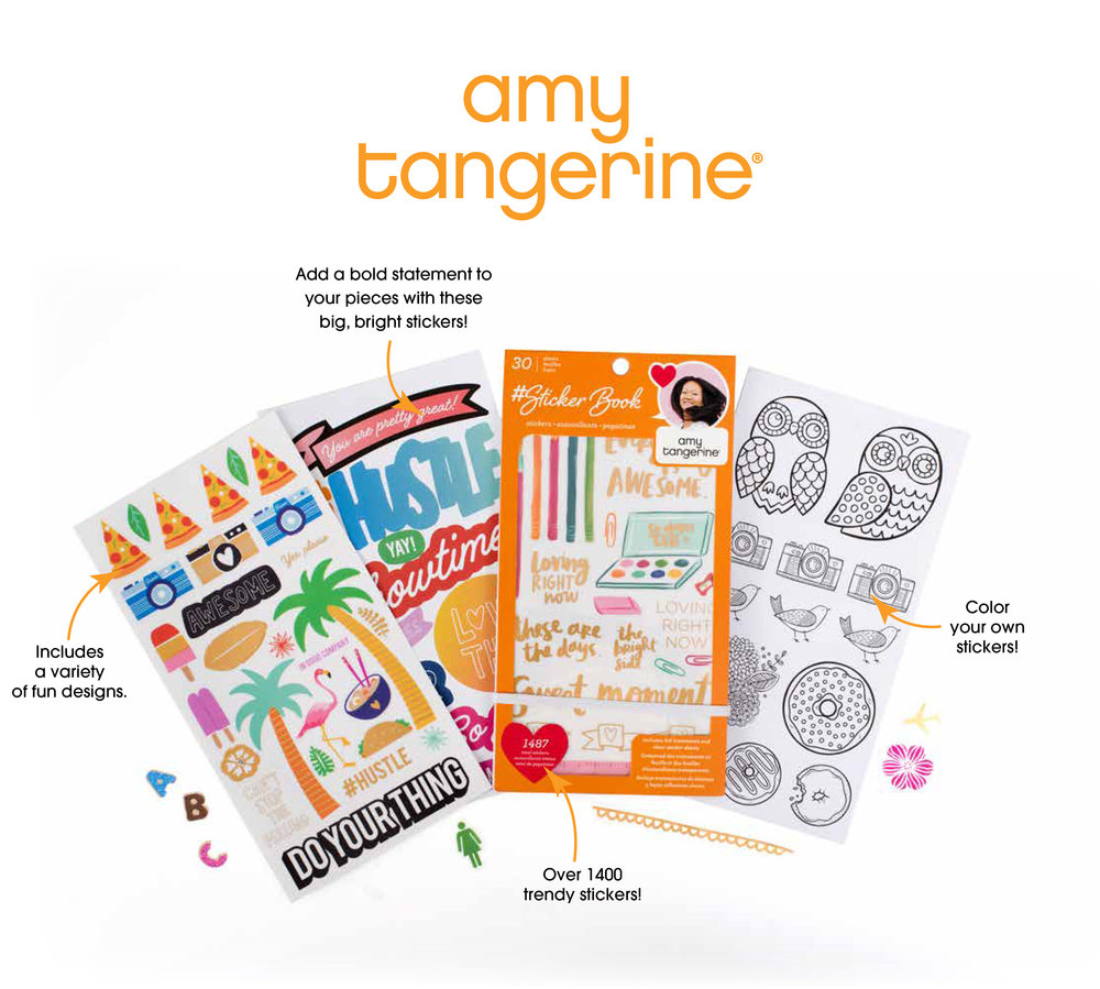 Amy Tangerine Sticker Book! Over 1400 stickers