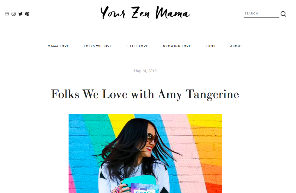 Your Zen Mama feature