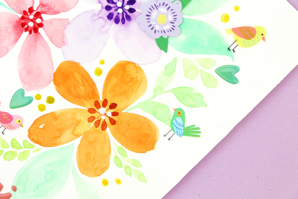 Zinia's Watercolor Flowers 5