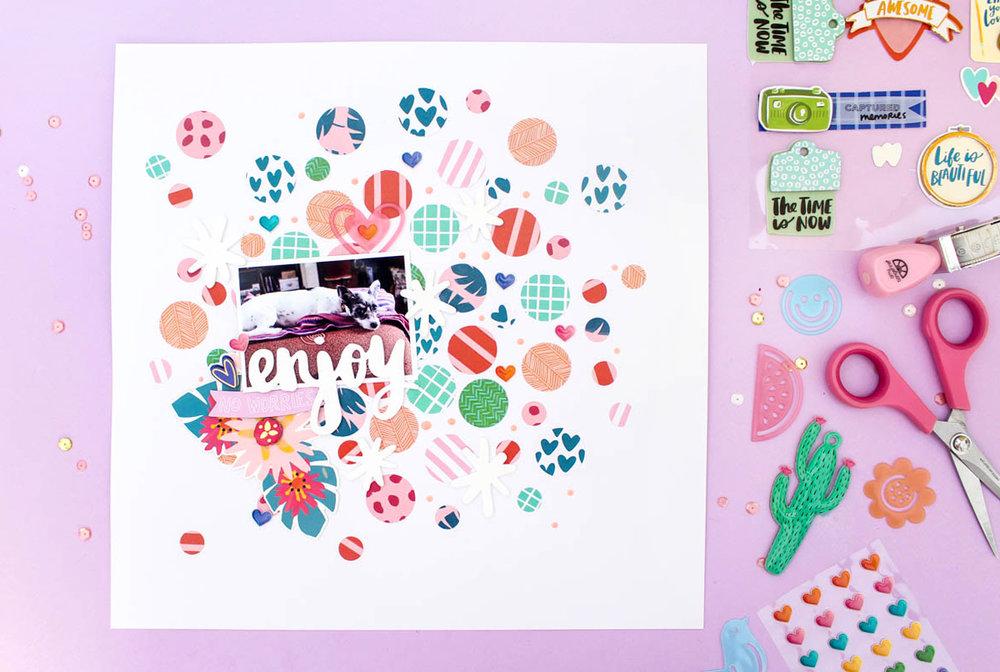 Zinia's Confetti Layout 1
