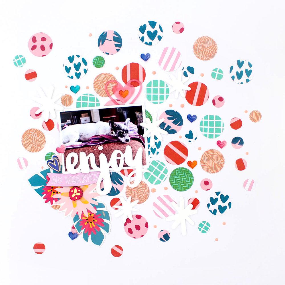 Zinia's Confetti Layout 2