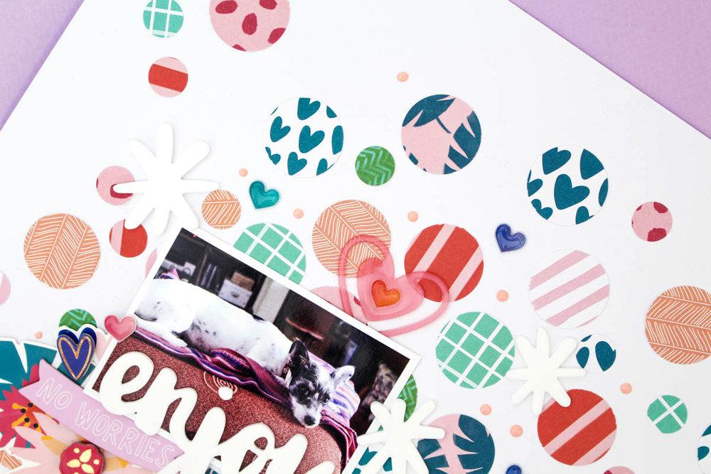 Zinia's Confetti Layout 5