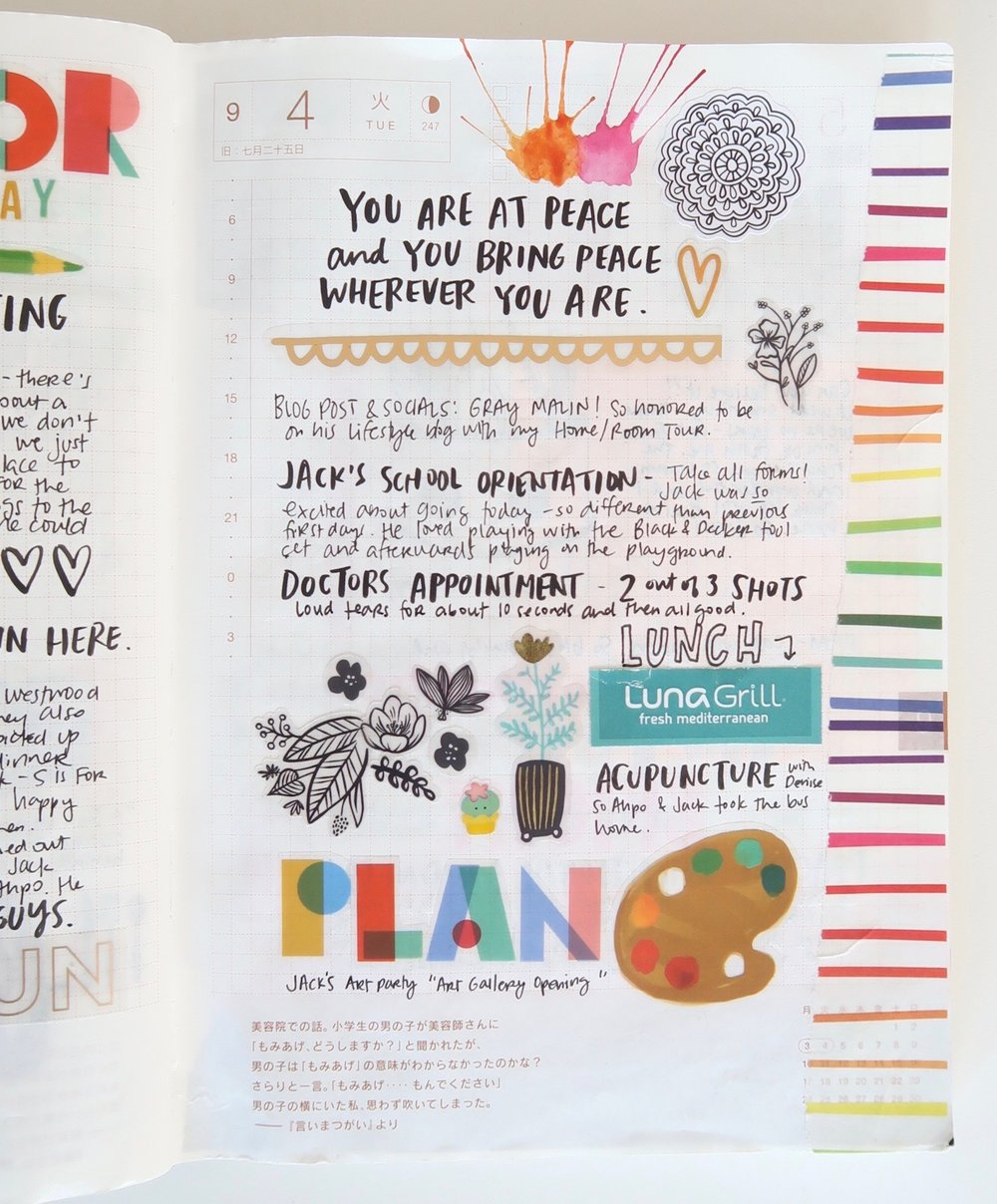 Rainbow Planner spread