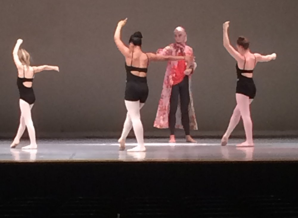 This is from a 2016 show rehearsal, nothing like a ballet centre on the stage!