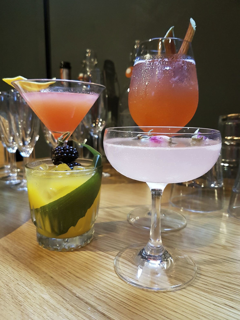 The taste of summer - four delicious cocktails, each with a unique flavour