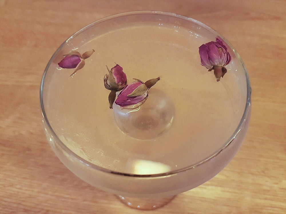 The Nikkei Rose cocktail, with a touch of rose water