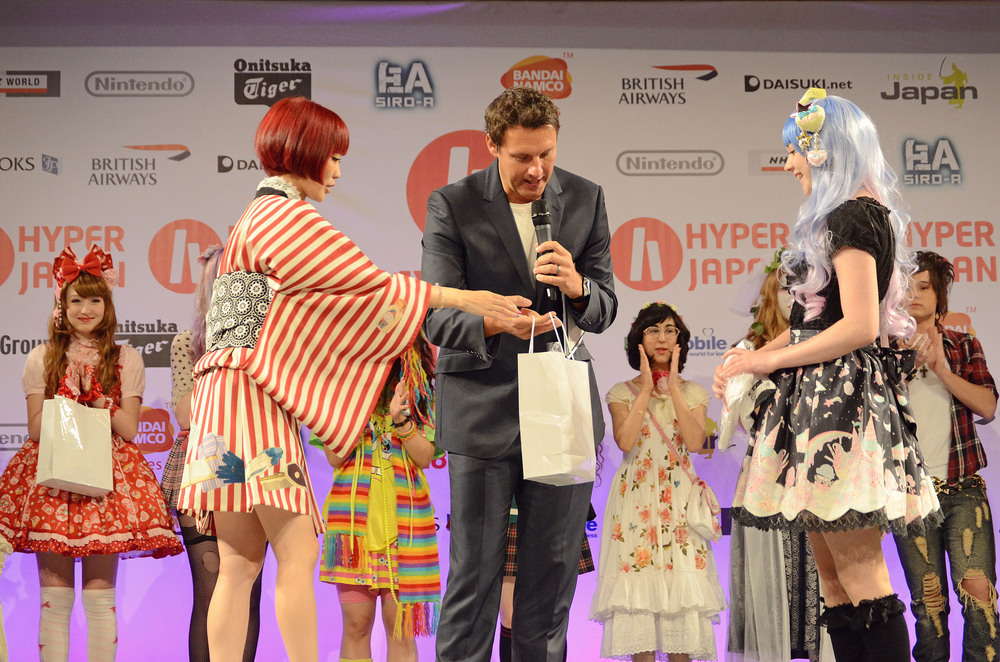 The fashion show always draws a big crowd, with prizes for the best coords