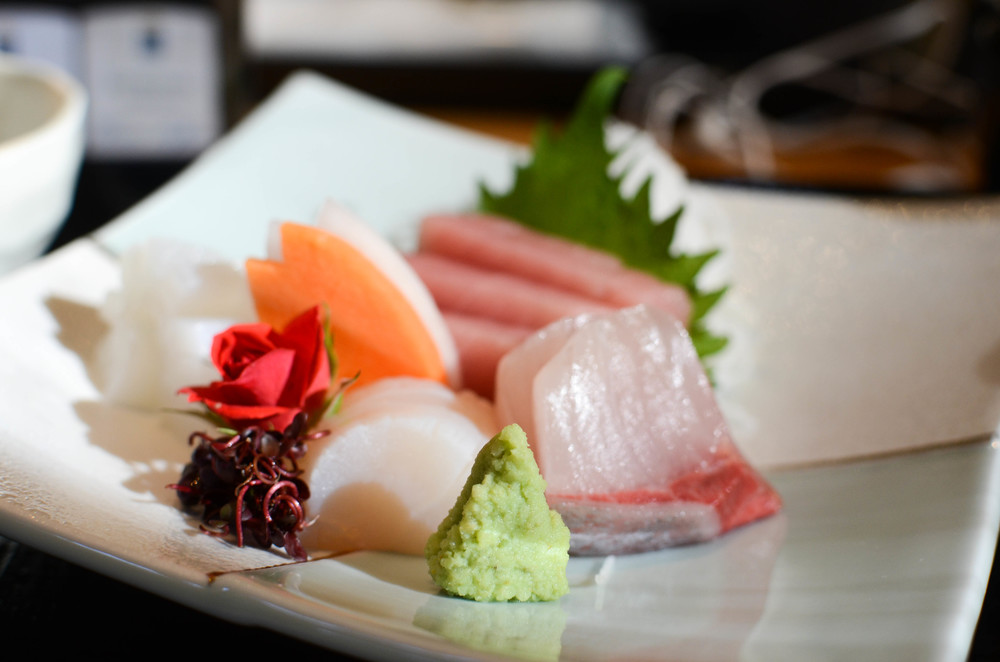 Enjoy some fresh sashimi at the park's restaurant