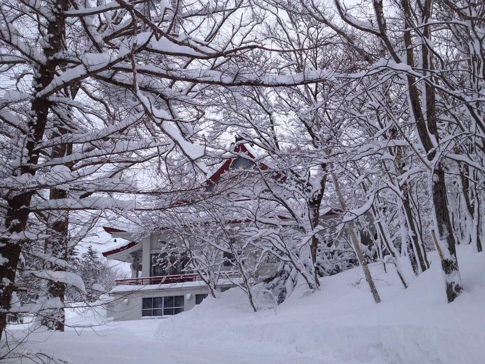 A Buddhist temple after the first snow fall of the season in Teshikaga, a small town in eastern Hokkaido.