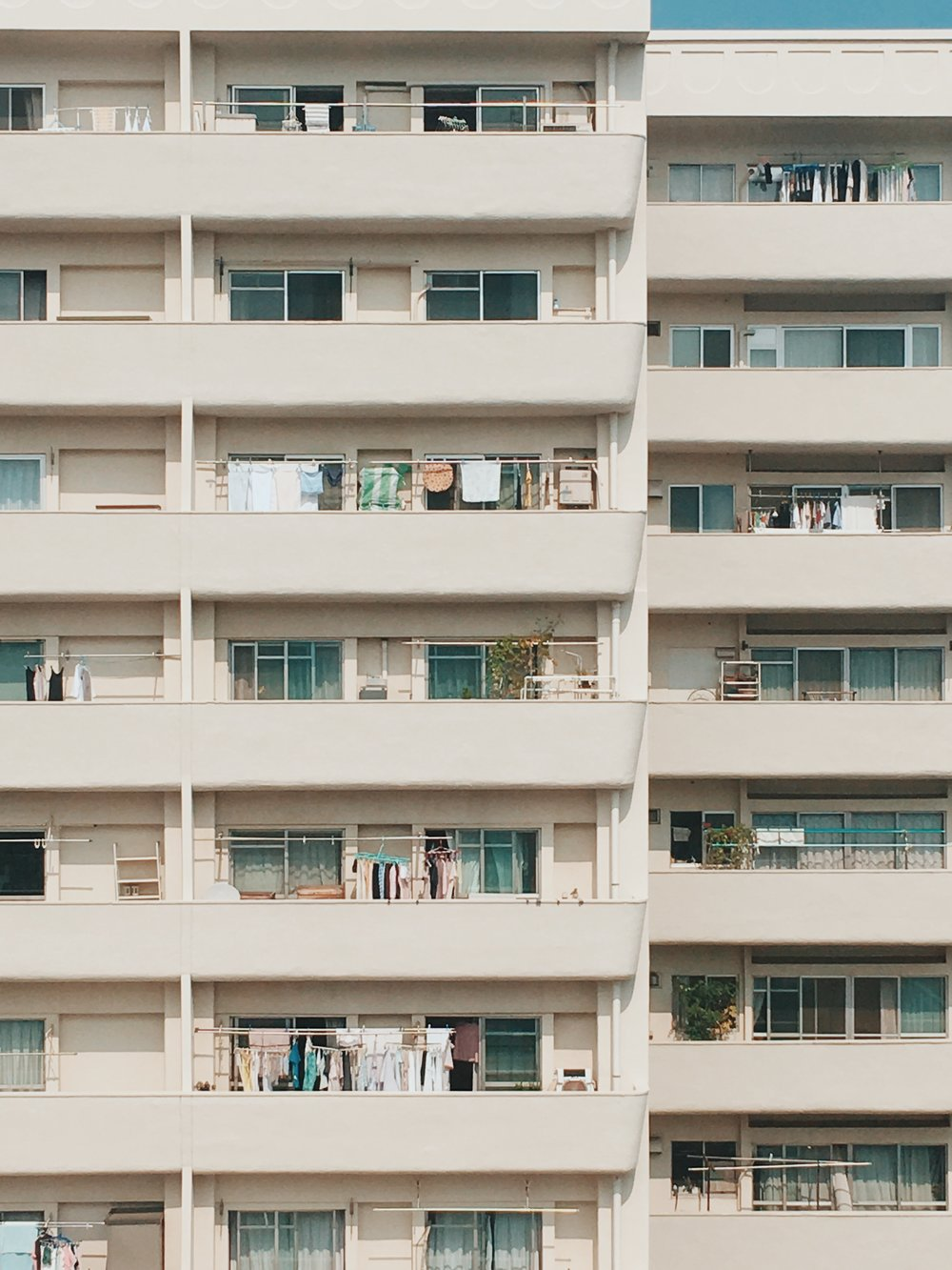Apartment from a balcony, Tokyo