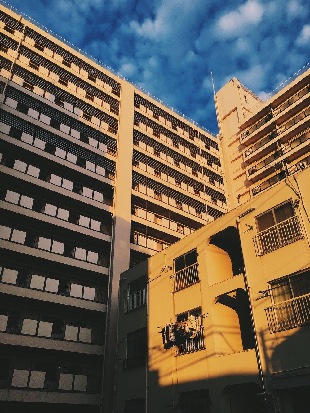 Sunrise, Tokyo suburb