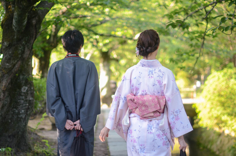 A stroll along Philosopher's Path in Kyoto.