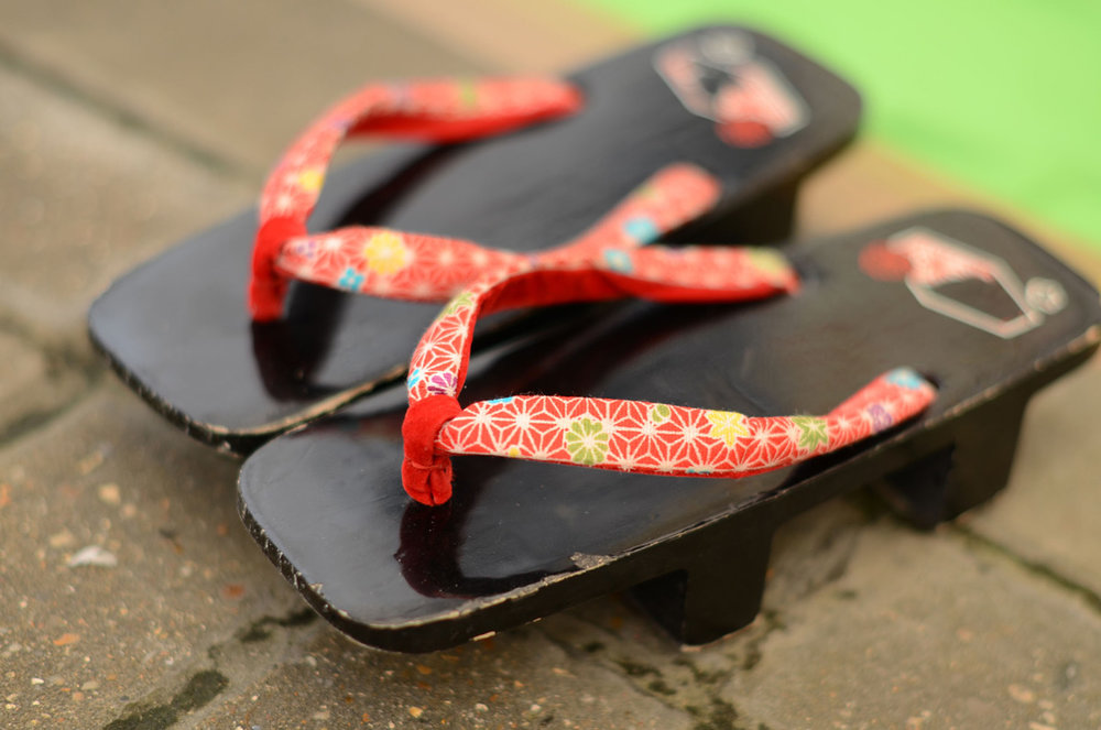 Geta sandals - traditionally worn with kimono
