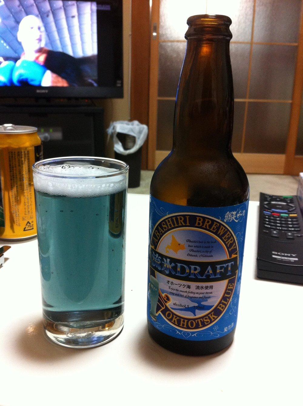 blue beer japan
