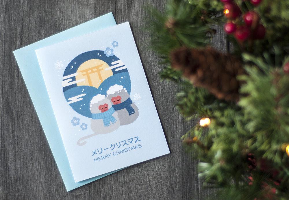 snow monkey japan illustration geri draws japan
