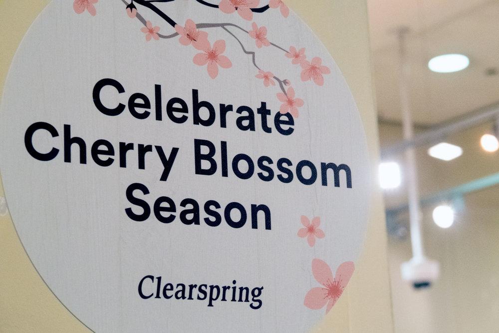 clearspring event cherry blossom saoirse clohessy