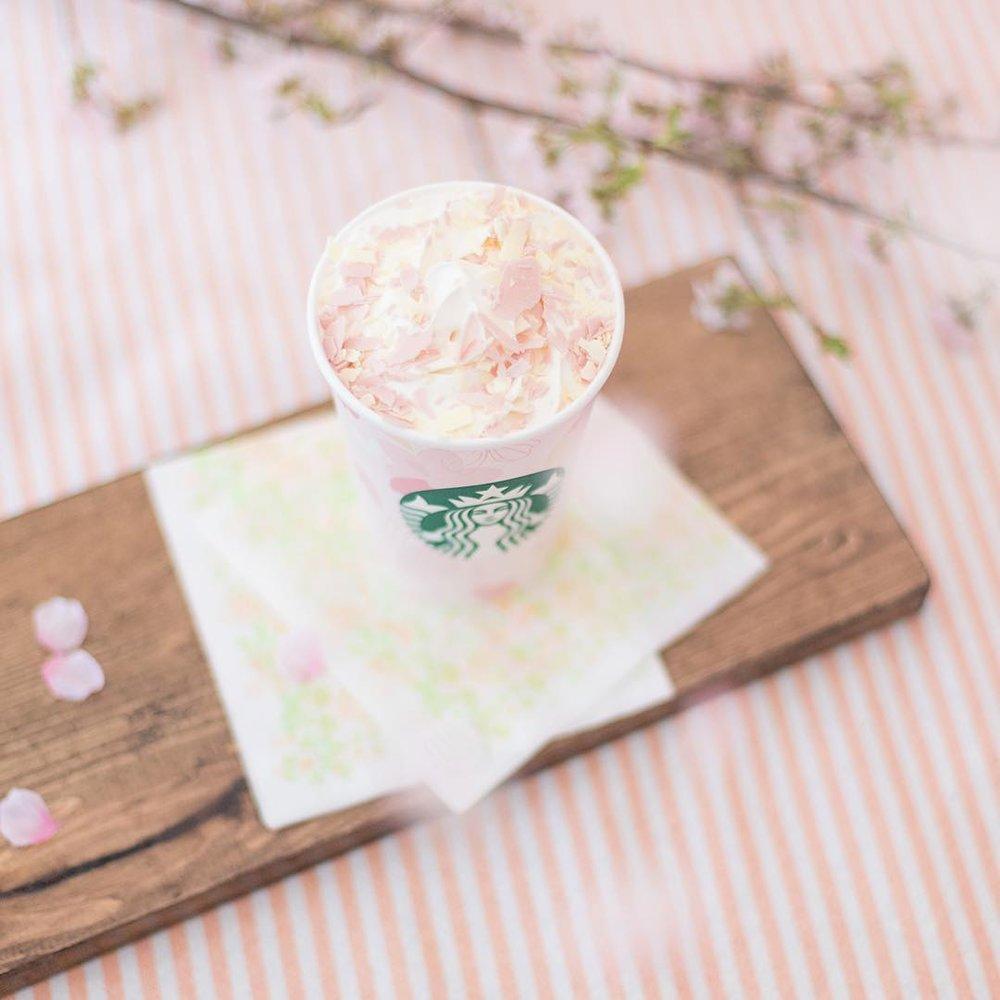 Starbucks cherry blossom latte