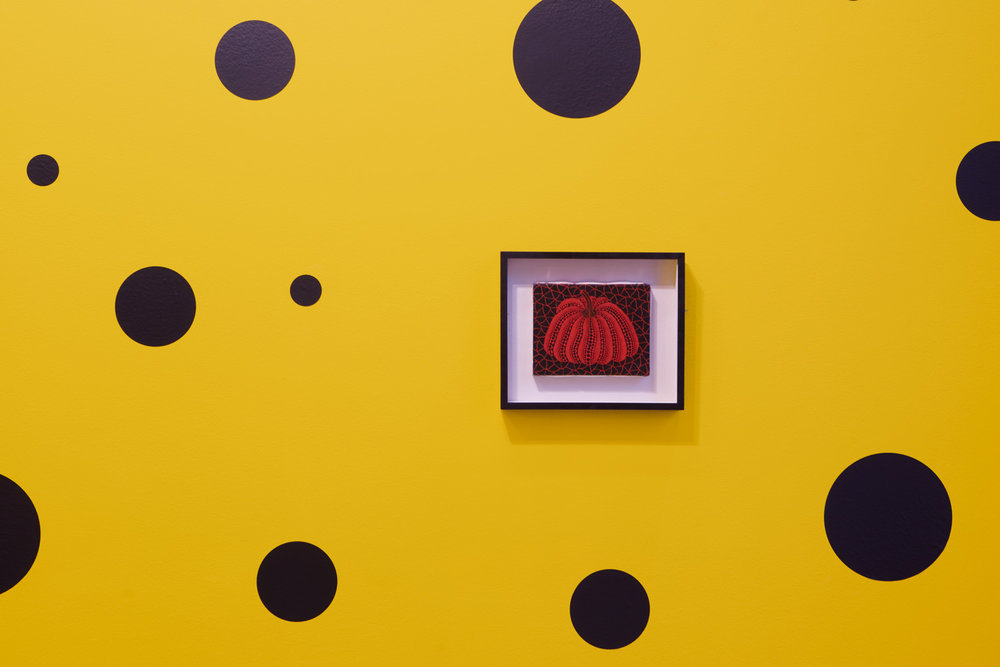 Yayoi Kasuma, Small Pumpkin Paintings © Omer Tiroche Gallery, Photography by Tom Carter.