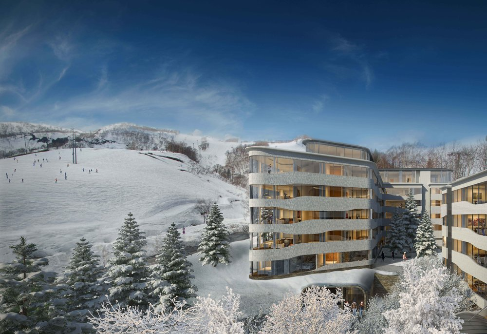 Skye Niseko also offers guests a ski valet, casual dining restaurant, deli, wine and sake bar, an alpine shop, spa and gym