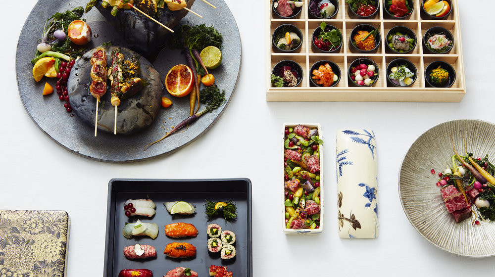 Akira - the restaurant at Japan House London offers an authentic Japanese dining experience based on Chef Akira's 'trinity of cooking' principles – food, tableware and presentation