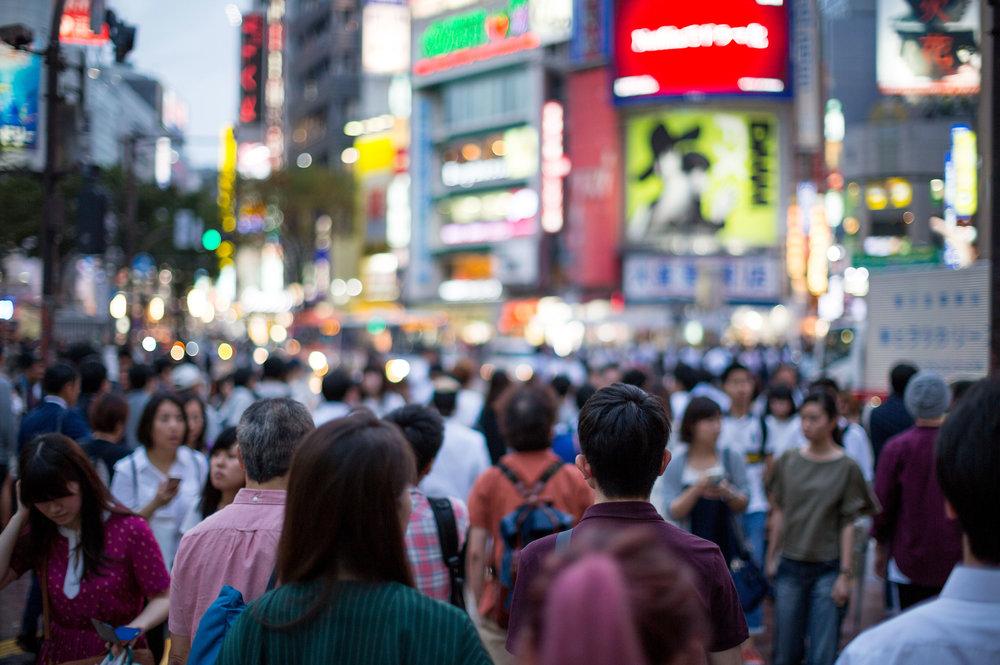 shibuya scramble tokyo japan