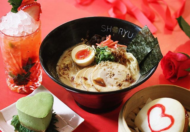 Valentines Day is coming! ❤️ . @shoryu_ramen #London are doing a special menu complete with delicious noodles, heart buns and cheesecake plus a cocktail or glass of bubbly! 🍜 . £24 for 3 courses ❤️
