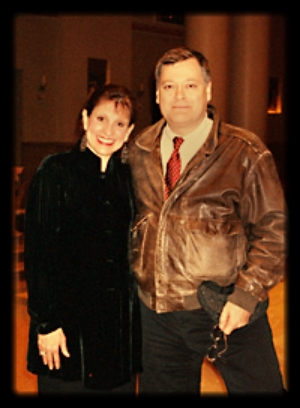 Conductor Sharon Hansen and Hagen at the world premiere in 2005.