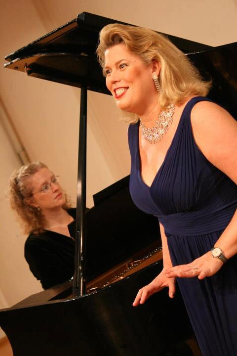 Tracy Cowden and Caroline Worra, premiering Vegetable Verselets, in 2011.