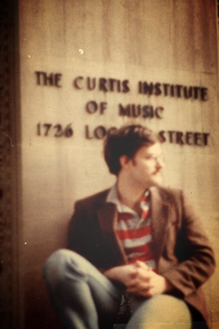 Daron Hagen as a student at Curtis in 1982.