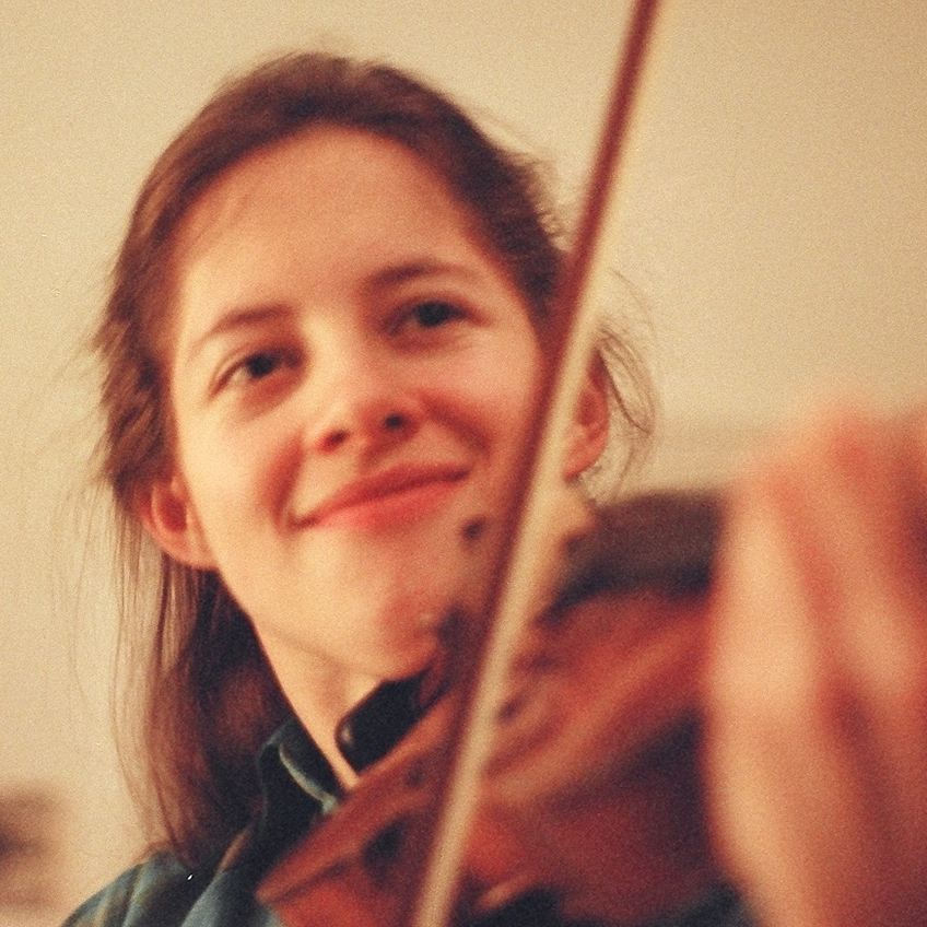 Violinist Michaela Paetsch in 1984.