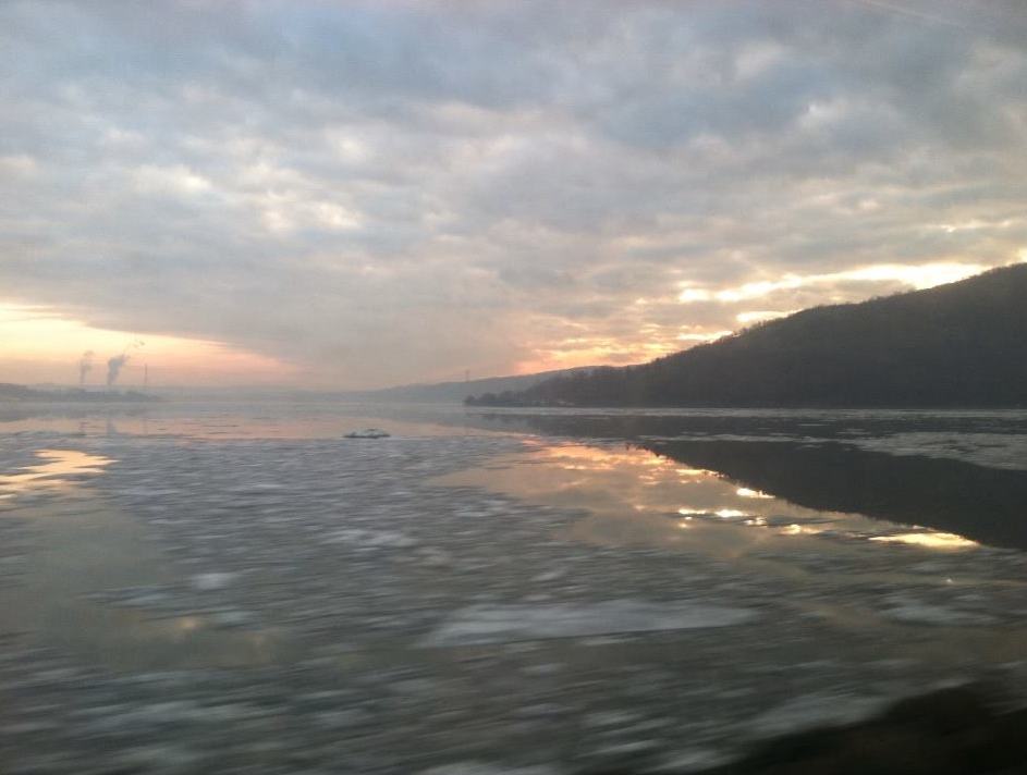 The Hudson, photographed by the composer on 15 January 2014.