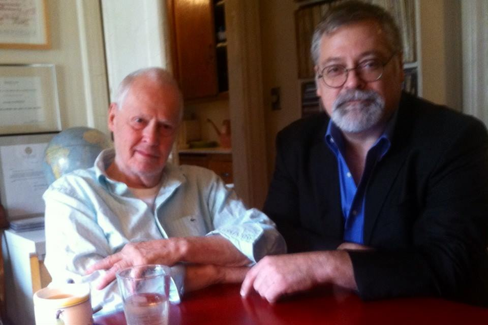 Ned Rorem and Daron Hagen in 2014