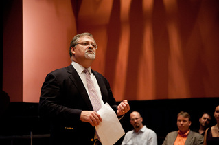 Lecturing on Tchaikovsky's operas for the Russian Opera Workshop in 2015.