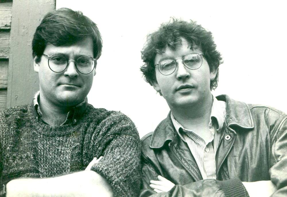 Daron Hagen and Paul Muldoon at the time they wrote Shining Brow. (Photo: Jean Hanff Korelitz)